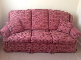 3 Piece Suite, 3 Seater Sofa & Armchairs. Immaculate Condition