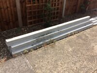 6 NEW Concrete Garden Fence Posts. 9ft...2.8m.