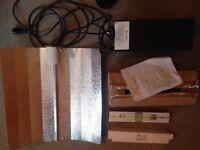 400 watt magnetic ballast with barn lamp shade with 2 400 watt bulbs