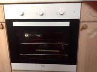 Beko Ecosmart White built in fan oven and grill