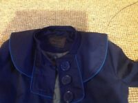 NUMPH ladies long navy coat size 10