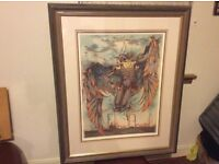 Limited edition print falling angel.