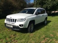Jeep Compass 2.2 CRD Limited Station Wagon 4WD 5dr - White with SAT Nave, Black Leather Seats