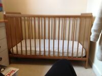 Childs Ikea cot which converts to cotbed