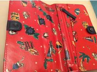 Ladies wallet Dickens And Jones Oil Cloth material