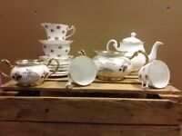 Vintage China Used For Wedding Cups Saucers Plates Milk Jugs Sugar Bowls Teapots