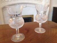 Edinburgh crystal wine glasses thistle design