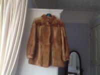 Ladies vintage real coney fur jacket from 1970