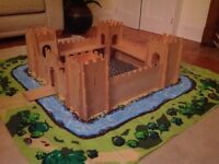 Wooden Fort and Play Mat
