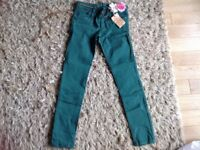 Girls brand new, Next green skinny jeans age 12