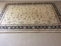 Traditional navy & cream rug