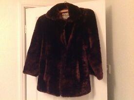 Vintage fur short coat