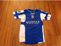 Email if you want to buy give money at door pick up only. Blue Cowdenbeath fc shirt