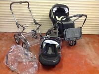 Silver Cross Dual Chassis Pram/Pushchair System