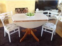 Wooden ,shabby chic drop leaf table (only)
