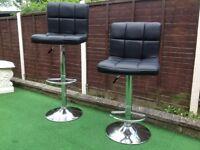 Bar stools a pair in black