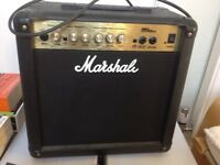 15 watt Marshall practice amp, no longer used, light and compact.