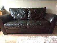 FREE Brown leather Natuzzi sofa
