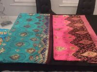 2 beautiful Indian large scarves, stole, wrap, shawl, hijab (bought from India)