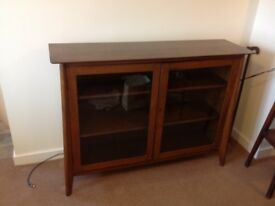 Vintage glass fronted bookcase