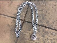 Very strong chain with padlock