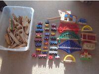 Brio wooden train set.