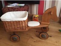 I have this beautiful wee wooden horse and cart