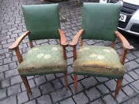2 vintage chairs in good solid condition but need recovering