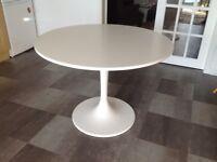 IKEA WHITE ROUND TABLE