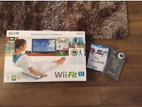 Wii fit U,balance board & fit meter set