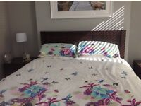 Bedroom furniture. Perfect condition 5ft double bed frame, Bed side cabinets and chest of drawers