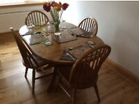 Pine Drop Leaf Table with 4 Chairs