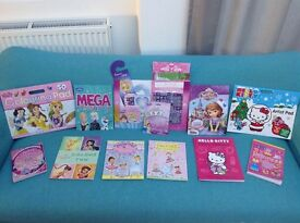 Colouring In & Puzzle / Activity Books, Girls/kids. Tinkerbell, Disney Princess, Hello Kitty