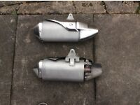 Triumph Speed Triple 1050 2012 Exhaust Silencer And Link Pipe