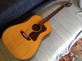Vintage USA 1988 Guild D25 Dreadnaught acoustic 6-string plus case, £825, buyer collects