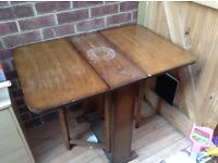Antique fold away table - perfect for up cycling