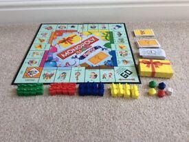 HASBRO JUNIOR PARTY MONOPOLY BOARD GAME