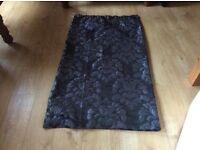 Black floral blackout curtains