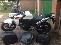 HONDA CB500F Panniers CB 500 F A1 Condition A2 licence motorcycle motorbike
