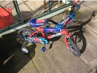 "14"" Spiderman bike with Stabilisers"