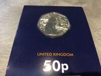 The 50p Paddington Bear 50p Commemorative Coin -BU condition.