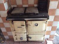 Rayburn solid fuel range cooker.