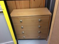 Two triple wardrobes, three chests of drawers( 1 large, 2 smaller), two bedside cabinets