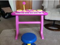 Fifi and The Flowertots keyboard and stool