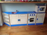 Wooden pre school kitchen