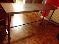 Commercial Stainless Steel Food Prep Bar Table Industrial Chic Kitchen RRP £385 1600 x 400 X 880