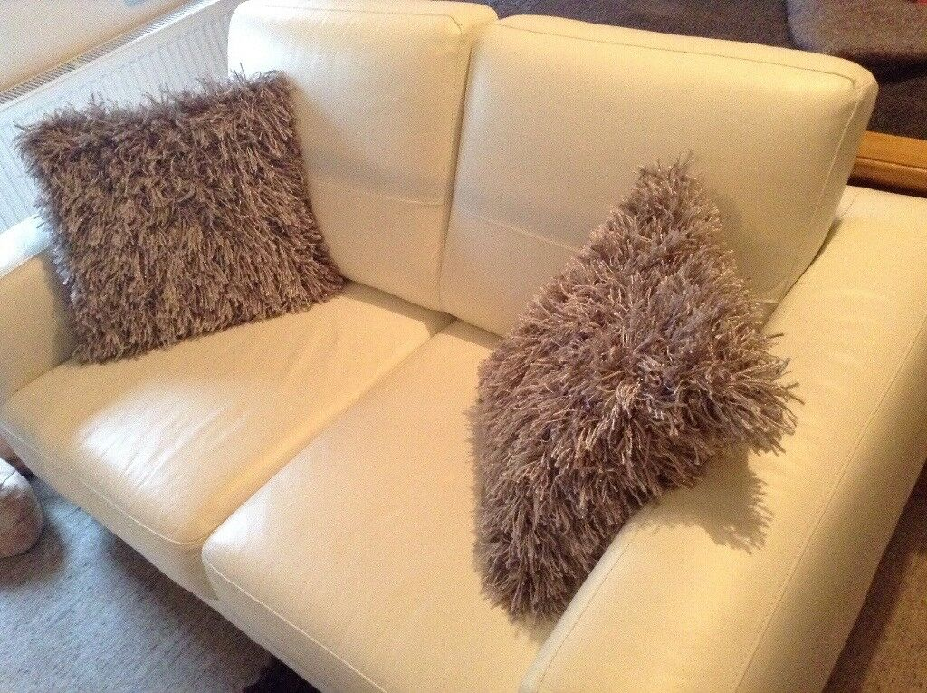 Fantastic Off White Leather Sofa In Inverurie Aberdeenshire Gumtree Pdpeps Interior Chair Design Pdpepsorg