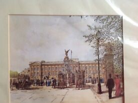 Buckingham Palace. Printed watercolour