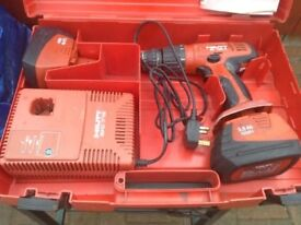 HILTI 18 volt cordless hammer drill in good condition ready for work no need for it