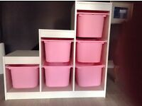 IKEA girl's storage unit. In good condition in pink and white